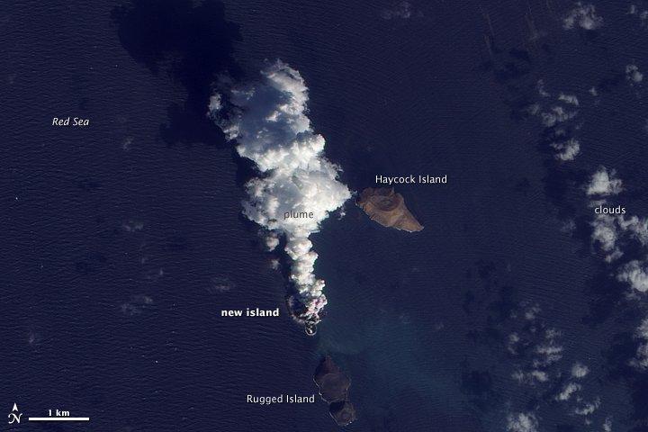 В Красном море возникло два новых острова.